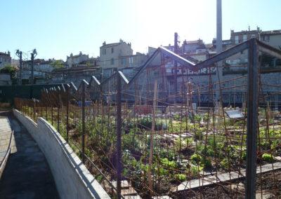 Barrières de jardin participatif